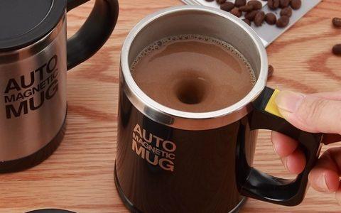懒人自动搅拌杯咖啡杯