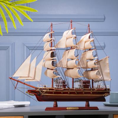 一帆风顺帆船模型摆件