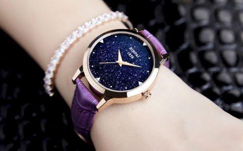 女士时尚星空皮带手表