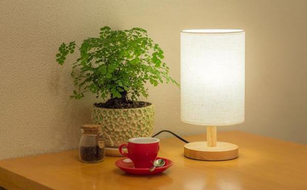实木可调光台灯创意小夜灯