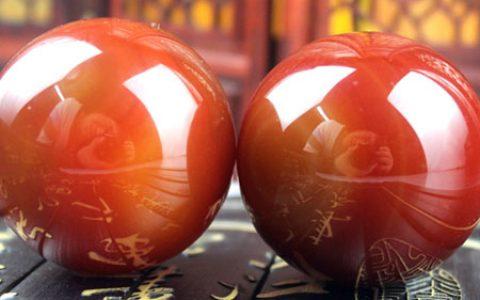 天然玛瑙保健身球水晶手球