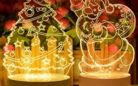 创意3D立体LED小夜灯