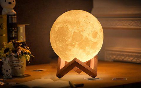 3d打印月球灯 创意月亮灯