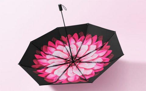 森系清新莲町防晒小黑伞,撑伞也是美丽girl_星空礼物街