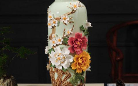 景德镇手工陶瓷花瓶摆件