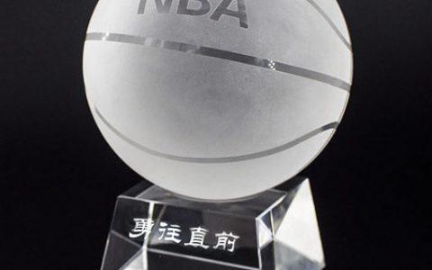 创意NBA水晶篮球摆件