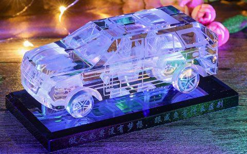 创意刻字水晶车模摆件_星空礼物街