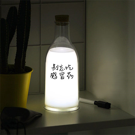 牛奶瓶伴睡留言灯