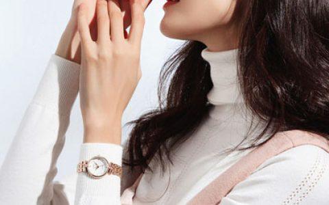 雷诺玫瑰金时装手表