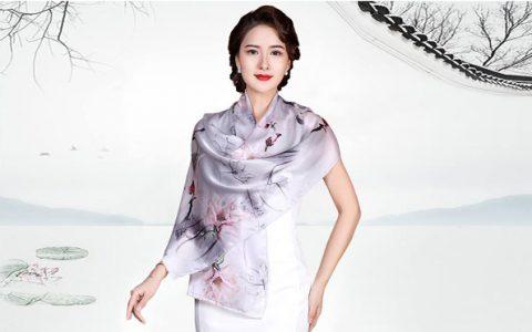 上海故事桑蚕丝真丝丝巾