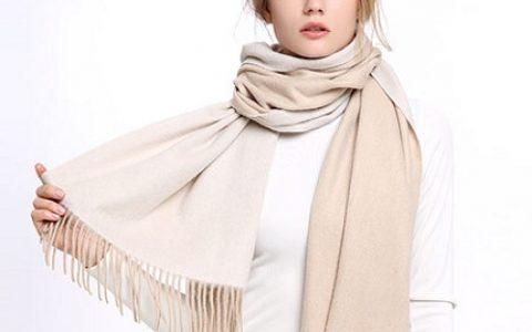 凌克双面羊绒女士围巾