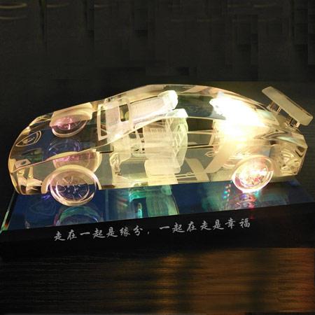 创意水晶车模