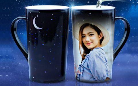 浪漫星空照片变色杯