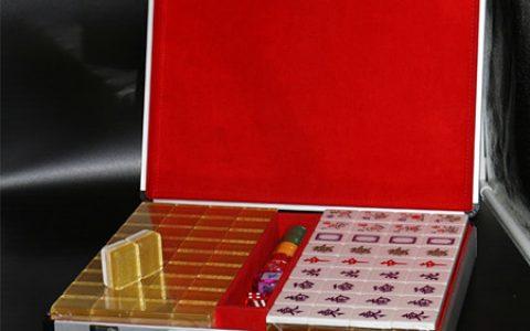 双色水晶金丝麻将礼盒