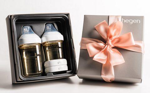 新加坡进口hegen奶瓶礼盒