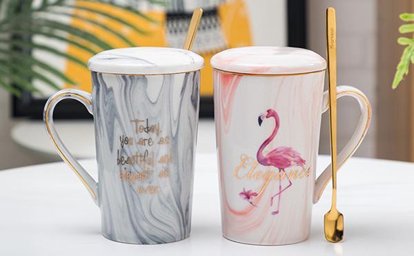 马克杯ins粉色陶瓷杯