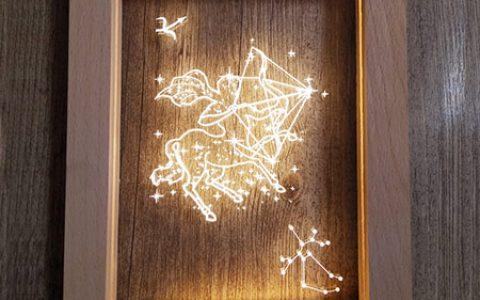 创意十二星座梦幻相框灯