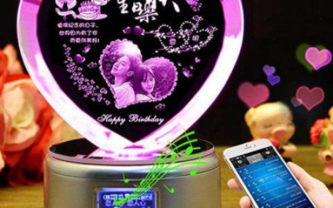 浪漫水晶礼品摆件排行榜,个性定制水晶礼物创意音乐盒
