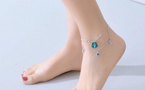 施华洛世奇元素小鱼水晶脚链