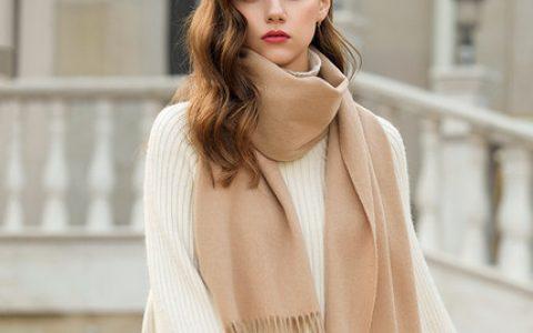 凌克轻薄羊毛女士围巾