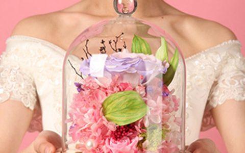 依雯然七彩玫瑰创意永生花