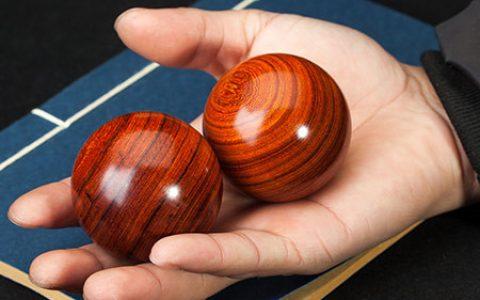 檀香木养生保健手球