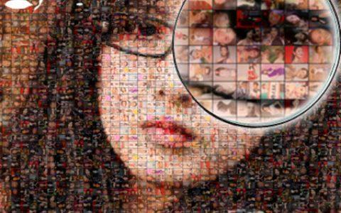 创意格子照片拼图