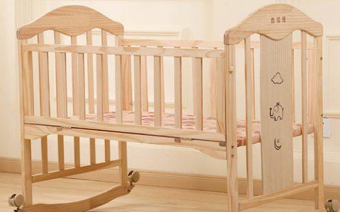 新生儿实木拼接婴儿床