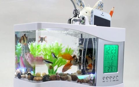 多功能鱼缸台灯 新奇浪漫又实用