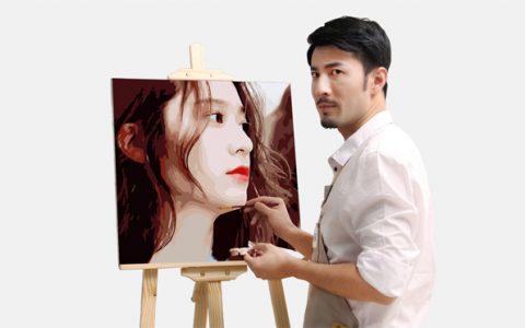 diy数字油画定制照片手绘画