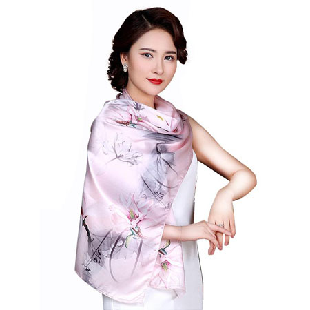 新款桑蚕丝围巾