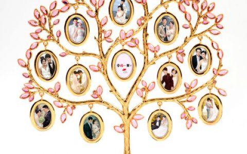 浪漫定制爱心照片树摆件