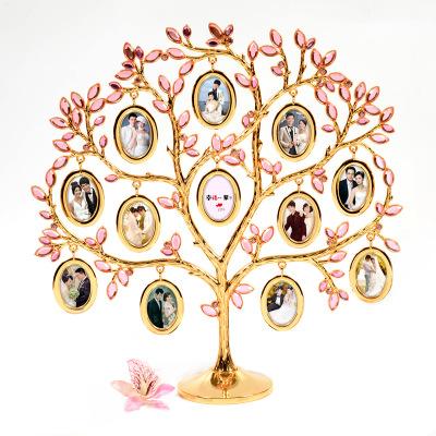 浪漫的爱心照片树摆件