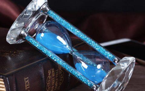 创意钻石水晶沙漏摆件