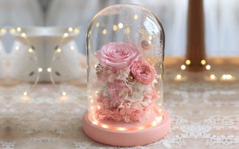 创意浪漫的玻璃罩永生花