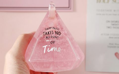 抖音同款粉嫩天气预报瓶