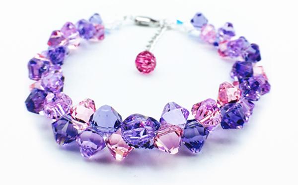 小清新奥地利紫水晶手链